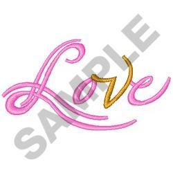 LOVE SCRIPT embroidery design