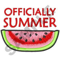 OFFICIALY SUMMER embroidery design