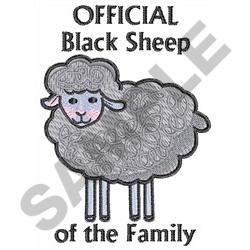 OFFICIAL BLACK SHEEP embroidery design