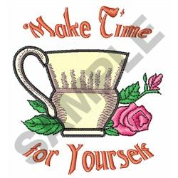 MAKE TIME FOR YOURSELF embroidery design