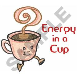 ENERGY IN A CUP embroidery design