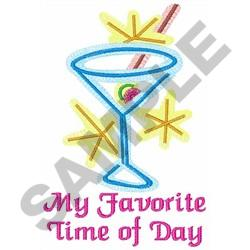 FAVORITE TIME OF DAY embroidery design
