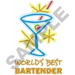 WORLDS BEST BARTENDER embroidery design