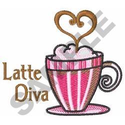 LATTE DIVA embroidery design