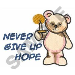 NEVER GIVE UP HOPE embroidery design