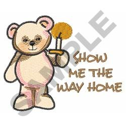 THE WAY HOME embroidery design