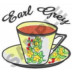 EARL GREY TEA embroidery design