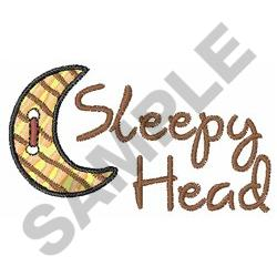 SLEEPY HEAD embroidery design