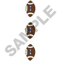 FOOTBALL BUTTONS embroidery design