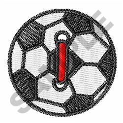 SOCCER BALL BUTTON embroidery design