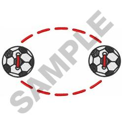 SOCCER BALL NAME DROP embroidery design