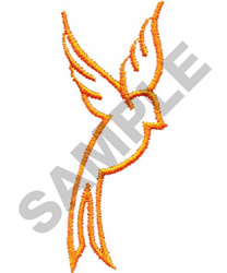 BIRD OUTLINE embroidery design