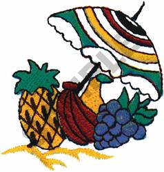FRUIT UNDER UMBRELLA embroidery design