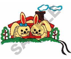 BUNNY HOUSE embroidery design