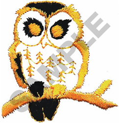 OWL ON A LIMB embroidery design