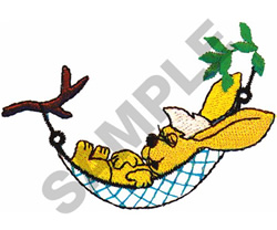 SLEEPING RABBIT embroidery design