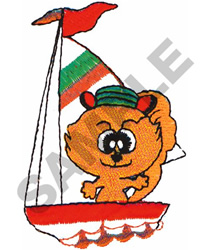 SAILING CAT embroidery design