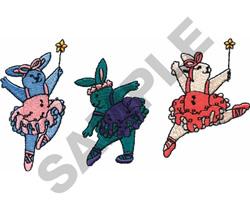 DANCING RABBITS BORDER embroidery design
