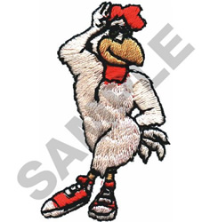 CHICKEN W/SNEAKERS embroidery design