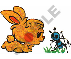 BUNNY & THE BEE embroidery design