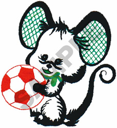 SOCCER MOUSE embroidery design