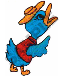 POINTING DUCK embroidery design
