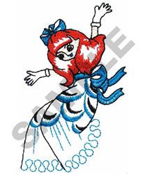 GIRL DANCING embroidery design