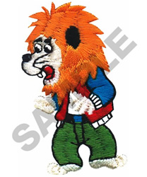 LION IN CLOTHES embroidery design