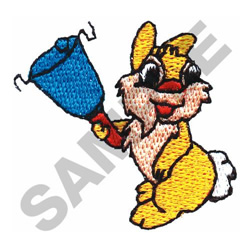 RABBIT W/ BELL embroidery design