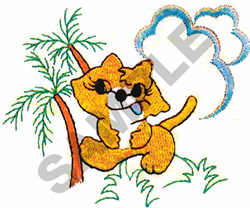 JUNGLE KITTY embroidery design