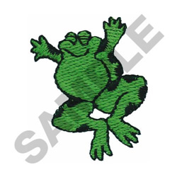 JUMPING FROG embroidery design
