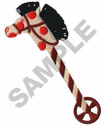 HOBBY HORSE W/FRINGE embroidery design