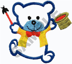 MAGICIAN TEDDY  BEAR embroidery design