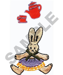 TEAPOT AND RABBIT embroidery design