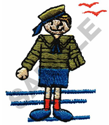 GIRL IN SAILOR SUIT embroidery design