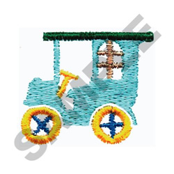 OLD FASHIONED CAR embroidery design