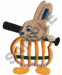 BUNNY BATTER embroidery design