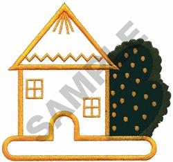 HOUSE APPLIQUE embroidery design