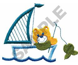 TEDDY BEAR FISHING embroidery design