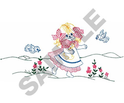 FROLICKING GIRL embroidery design