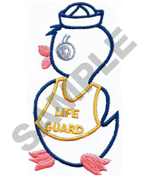 LIFEGUARD DUCK embroidery design