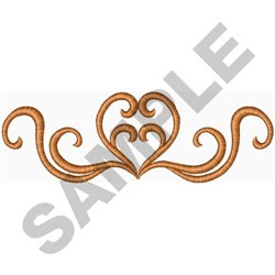Heart Scroll embroidery design