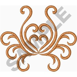 Scroll Medallion embroidery design