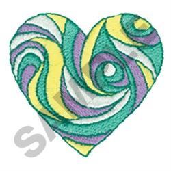 RIBBON SWIRL HEART embroidery design