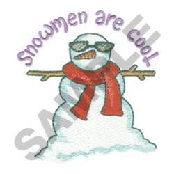 SNOWMEN ARE COOL embroidery design