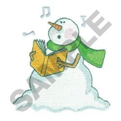 SNOWMAN SINGING embroidery design