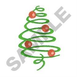 SWIRL CHRISTMAS TREE embroidery design