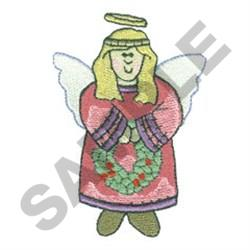 ANGEL WITH WREATH embroidery design