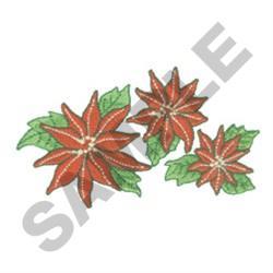 THREE POINSETTIAS embroidery design