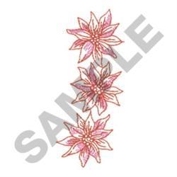 REDWORK POINSETTIAS embroidery design